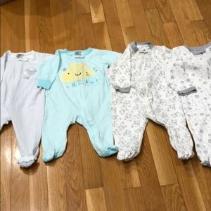 4 baby pjs for one price